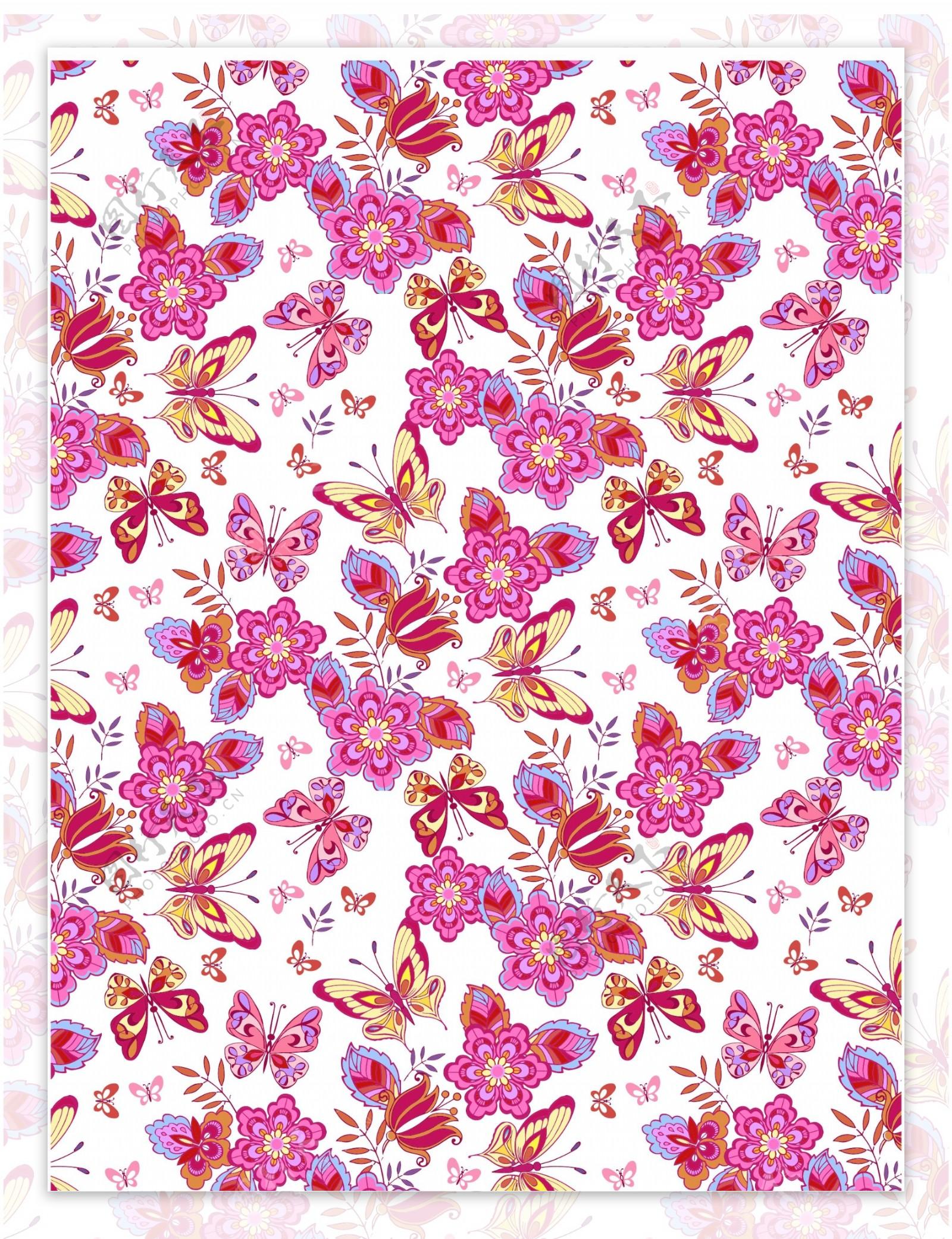 蝴蝶梅红花朵蝴蝶剪纸