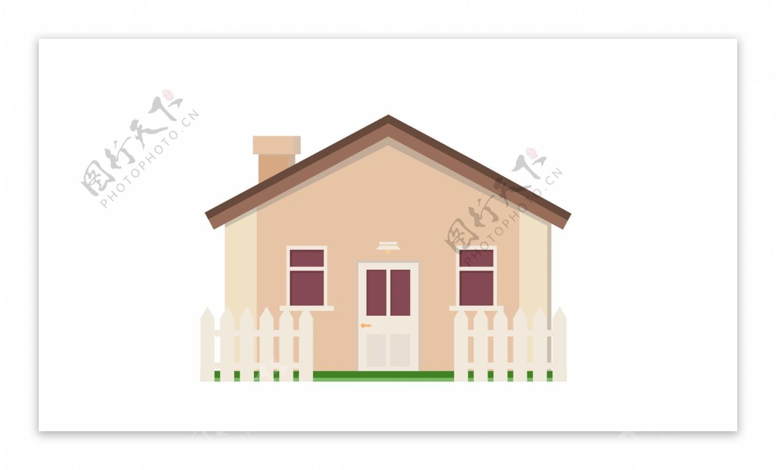 别墅房屋矢量元素